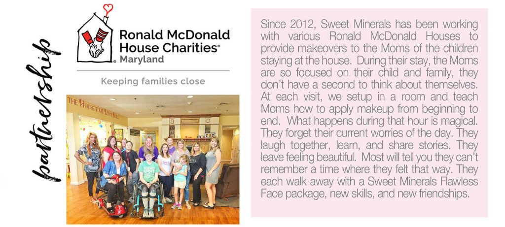 Sweet Minerals partners with Ronald McDonald House Charities of Maryland