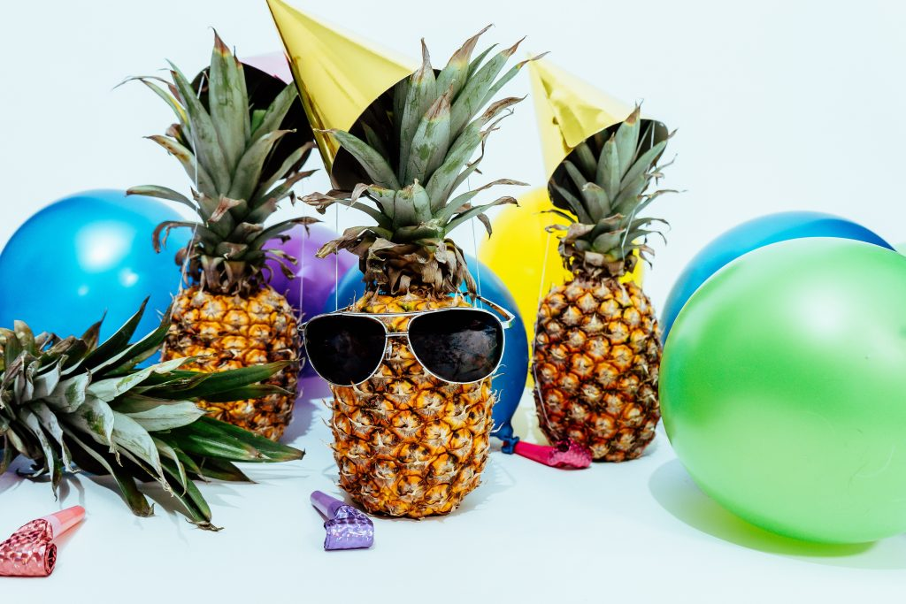 Pineapples Partying